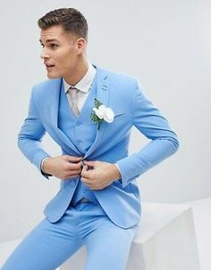 Browse online for the newest ASOS DESIGN wedding super skinny suit jacket in sage green linen styles. Shop easier with ASOS' multiple payments and return options (Ts&Cs apply). Prom Suits For Men, New Mens Suits, 3 Piece Suit Slim Fit, 3 Piece Suits, Slim Suit, Costumes Bleus, Traje Slim Fit, Prom Suit Jackets, Terno Slim