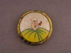 Old Art Deco French Celluloid Sparkle Glitter Compact (06/17/2010)