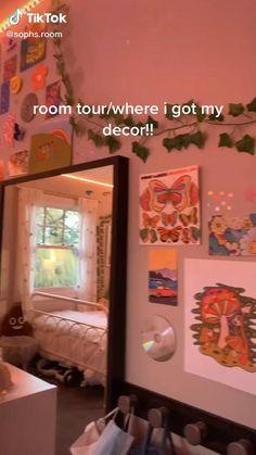 Indie Room Decor, Cute Bedroom Decor, Room Design Bedroom, Teen Room Decor, Room Ideas Bedroom, Bedroom Inspo, Indie Dorm Room, Chambre Indie, Neon Room