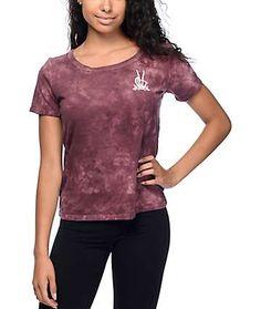 Vans Grave Peace Burgundy Cloudwash T-Shirt