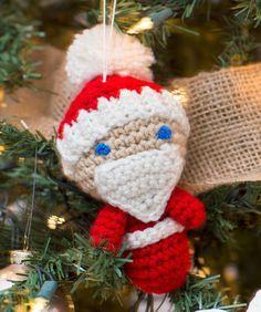 Amigurumi Santa Ornaments