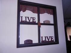 Window SIl Primitive 4 Pane with Valance by PrimitivePurpose, $25.00