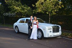 This white Rolls Royce Phantom is the best choice of wedding car hire