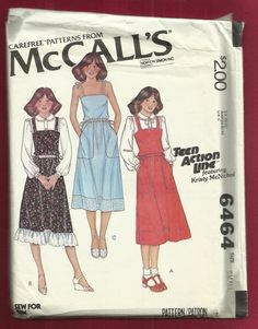 1979  McCalls 6464 Praire Chic Sun Dress or Jumper by MrsWooster, $9.00