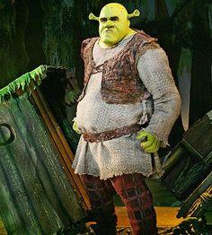 Photo 1 of 7   Brian d'Arcy Jamesas Shrek andDaniel Breaker as Donkey in Shrek.   Shrek the Musical: Show Photos   Broadway.com
