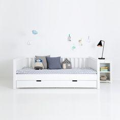 Kindermöbel   Sanders Jugendbett / Kinderbett FANNY, 90x200cm, Höhe: 70cm, schneeweiß   Ihr großer Kindermöbel Onlineshop