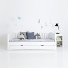 Kindermöbel | Sanders Jugendbett / Kinderbett FANNY, 90x200cm, Höhe: 70cm, schneeweiß | Ihr großer Kindermöbel Onlineshop