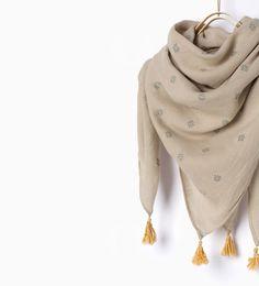 Image 3 of Shiny scarf from Zara
