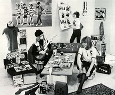 Beatles fan Teenager Beatlemania bedroom.
