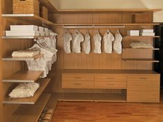 california closets roman walnut | ... Closet With Drawers And Cabinets In Roman Walnut | California Closets