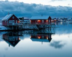 Lofoten Islands, Norway by pboehi Fjord, Oslo, Beautiful World, Beautiful Places, Beautiful Norway, Places Around The World, Around The Worlds, Lofoten Islands Norway, Reflection Pictures