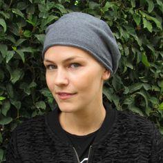 Womens Ladies 100% cotton soft comfy beret hat beanie - chemo hair loss alopecia
