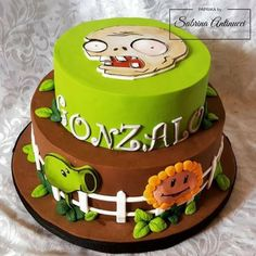 Plants vs Zombies - Cake by Sabrina Antinucci