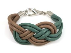 DIY tutorial knot leather bracelet