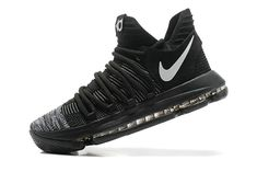 Cheapest Authentic KD 10 Black White Oreo Mens Basketball Shoes 2018 On Line