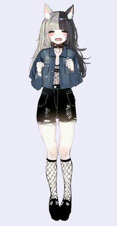 Anime art girl kawaii catgirl Ideas for 2019 art 794674296731891091