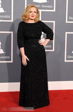 Glittering A-Line Jewel Neckline 3/4-Sleeves Floor-Length -Lengths Mother Dresses Inspired by Adele Adkins
