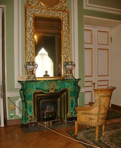 18th Century fireplace in the Yusopov Palace, Moscow http://beauxmondesdesigns.blogspot.com/2009/11/yusupov-palace-grigori-rasputin.html