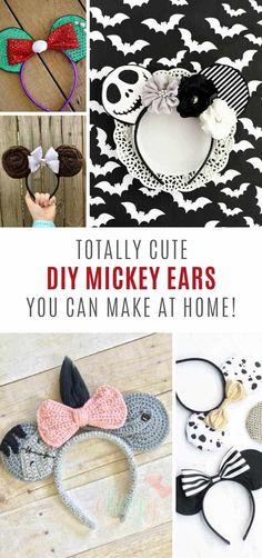 Tremendous Hero Crafts, DIY, Recipes DIY Mickey ears you can also make this weekend! Disney Ears Headband, Diy Disney Ears, Disney Mickey Ears, Disney Diy, Disney Crafts, Mickey Ears Diy, Disney Babies, Disney Ideas, Disney Cruise