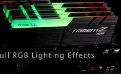 G.Skill lança memórias Trident Z RGB DDR4 com módulos de 16 GB e iluminação LED