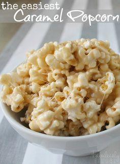 easy marshmallow caramel popcorn image