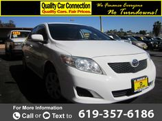 2010 *Toyota*  *Corolla* *LE* *4-Speed* *AT*  123k miles Call for Price 123960 miles 619-357-6186 Transmission: Automatic  #Toyota #Corolla #used #cars #QualityCarConnection #LaMesa #CA #tapcars
