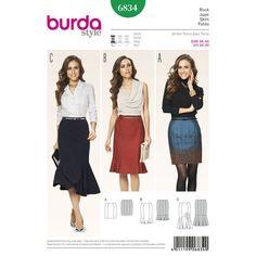 Burda Style Pattern 6834 Skirts