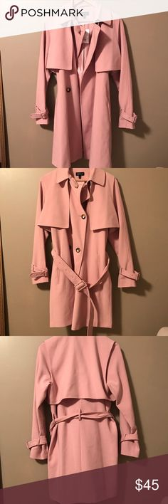 Pink Topshop Trench Coat Brand new Topshop trench coat in pink. This is a great end of winter early spring coat. Never worn, still has tags. Topshop Jackets & Coats Trench Coats