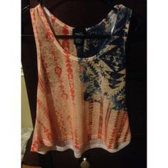 American flag tank top Red and blue Aztec tank top ❤️ Rue 21 Tops Tank Tops