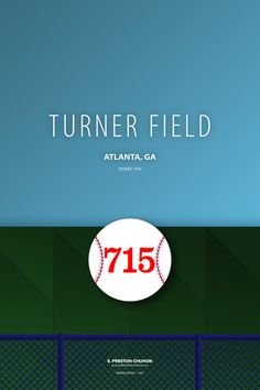 Minimalist Hank Aaron at Turner Field - Atlanta