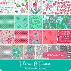 "Flora & Fawn 5"" Stacker Amanda Herring for Riley Blake Designs - Flora & Fawn - Riley Blake Fabrics | Fat Quarter Shop"