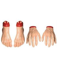 HANDS AND FEET 2 EACH - CostumePub.com Vampire Bride, Vampire Party, Scary Halloween Decorations, Haunted Halloween, House Decorations, Zombie Head, Kids Menu, Oriental Trading, Cool Gifts