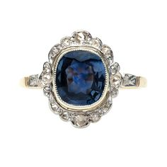 vintage Edwardian sapphire ring. So beautiful. Dream ring