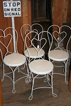 Ice Cream Parlor Chairs Just Need The Table Old Antique