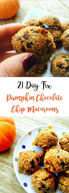 21 Day Fix Pumpkin Chocolate Chip Macaroons {Gluten-free:Dairy-free} | Confessions of a Fit Foodie