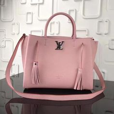 5a61b5b303c Louis Vuitton Grained Calfskin Lockmeto Tote M54572 Pink 2017   leatherjacketsformenpink Leather Men