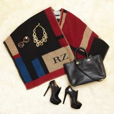 Rachel Zoe's Fashion Week Style, Day 4 | The Zoe Report Burberry stole, Alain booties, Chanel necklace