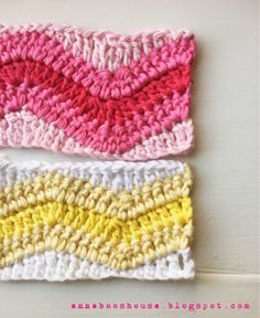 Annaboo's house: Chevrons with a straight edge I LOVE THIS! Now, if i could figure out how to do this with simple single crochet chevrons.. maybe the exact same way?.. hmm..