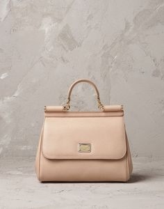 DOLCE  GABBANA Sicily Bag Mid-Size in Nude