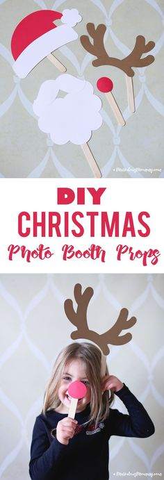 DIY Chrismtas Photo Booth Props