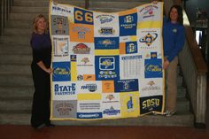 Quilt made for South Dakota State University, Brookings for 2011 Stan Marshall Benefit.  Go Jacks!!!