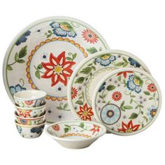 Threshold™ Roped Vasaio Floral Dinnerware Collection