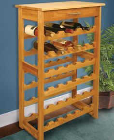 It just sat in storage room since it was bought back in the NOS Wooden Wine Rack. Large Wine Racks, Wine Rack Design, Wine Rack Storage, Garage Storage, Easter Bunny Decorations, Italian Wine, Craft Stick Crafts, Shoe Rack, Hardwood