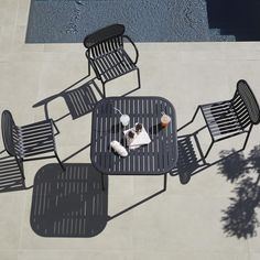 Outdoor Time - The Week-End Outdoor Furniture Collection by Petite Friture - Garden Chairs, Tables, Benches. Contemporary Outdoor Lighting, Contemporary Outdoor Furniture, Garden Chairs, Garden Furniture, Garden Benches, Street Furniture, Furniture Design, Rooftop Terrace Design, Square Tables