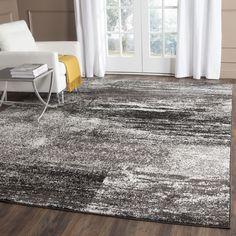Safavieh Adirondack Modern Abstract Silver/ Black Large Area Rug (10' x 14') (ADR112A-10), Size 10' x 14'