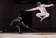 Toronto Fencing Club's Sebastien Dubois-Didcock with Coach Peter Ho
