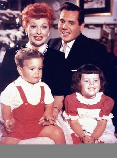 Lucy Desi and the 2 Babies.... Desi, Jr. and Lucie