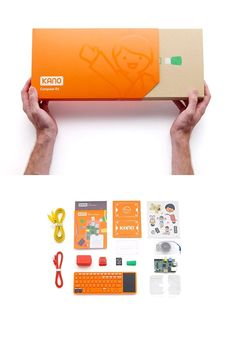LEGO style computer that kids can plug and play to make their own working computer   Kano Kits
