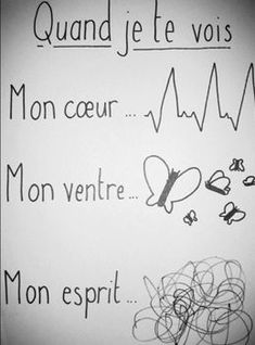 Best Quotes, Love Quotes, Inspirational Quotes, Cute Love, Love You, Image Fun, French Quotes, French Sayings, True Facts