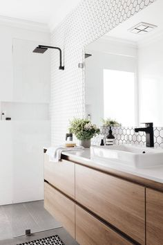 Styling : Erice Zuccala. Photography : Tarina Lyell #bathrooms #cabinets #home #decor #designs #ideas